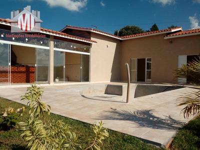 Chácara Nova Com Escritura, 03 Dormitórios À Venda, 1000 M² Por R$ 350.000 - Zona Rural - Pinhalzinho/sp - Ch0377