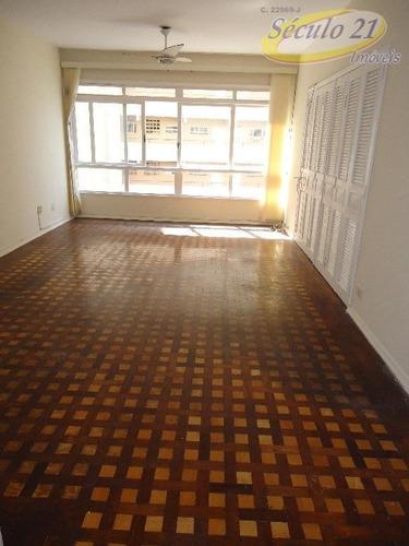 Apartamento Com 3 Dormitórios Para Alugar, 160 M² Por R$ 3.800,00/mês - Boqueirão - Santos/sp - Ap4710