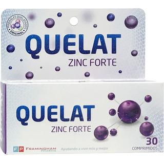Quelat Zinc Forte Minerales Aminoquelados 30 Comp Original