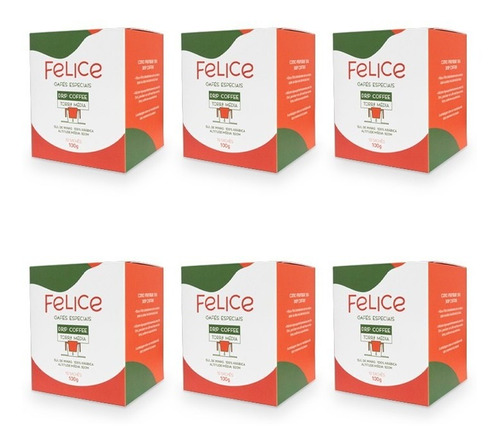Drip Coffee Felice 10 Sachês - Kit 06 Caixas