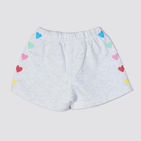 Short Pantalon Nena Unicornio Corazón Grisino Verano