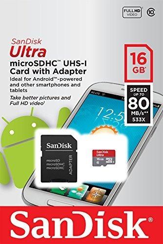 Cartão Micro Sd Ultra 16gb Microsdhc Class 10 - Sandisk