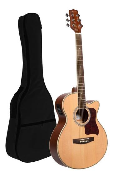 Guitarra Electroacustica Corte Bamboo Eq Afinador Funda Pua