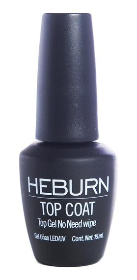 Heburn Esmalte Top Coat Manicuria Semipermanente Gel