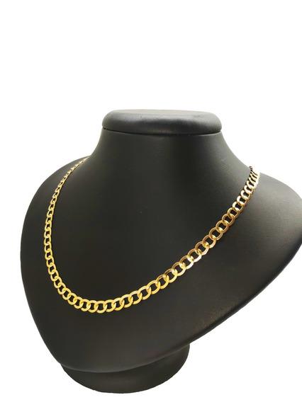 Cordão Masculino Elos Redondos Em Ouro 18kl 15 Gramas
