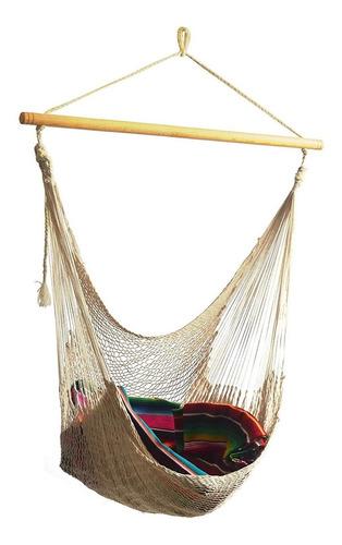 Imagen 1 de 10 de Silla Hamaca Colgante En Columpio Huevo Color Natural
