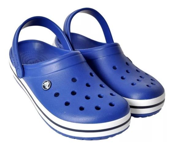 Crocs Crocband Original Unisex Hombre Mujer Azul Blue Navy Sandalias Zuecos