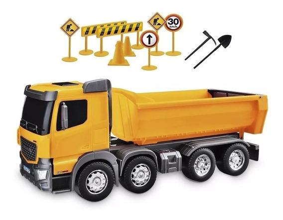 Brinquedos Caminhão Bitruck Basculante Com Acessorios