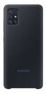 Capa Protetora De Silicone Preto Celular Samsung Galaxy A51