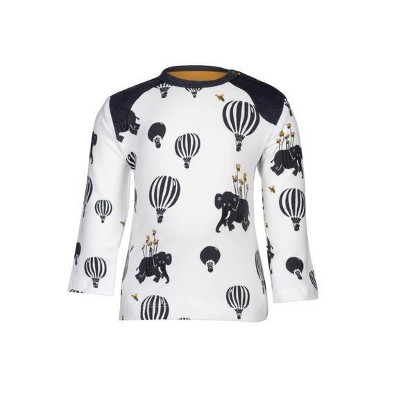 Camiseta Manga Longa - Noeser -airballoon- Branco C/ Estampa