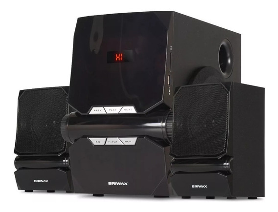 Home Theater 2.1 Sistema Som 50w Portátil Bluetooth Subwoofer Mp3 Usb Pc Tv