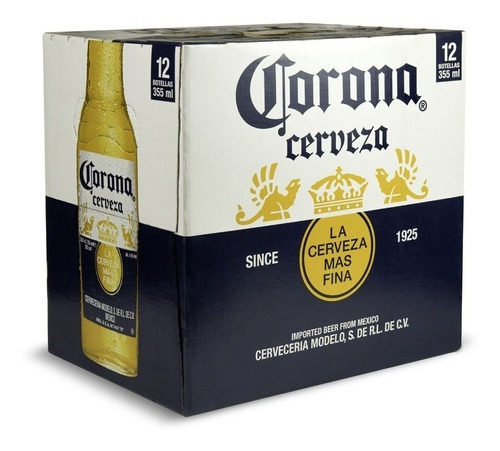 Cerveza Corona 355 Cc Pack X 12 Unidades