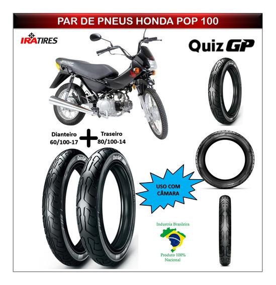 Honda Pop 100 Todas Pneu Dianteiro Traseiro Tam Original