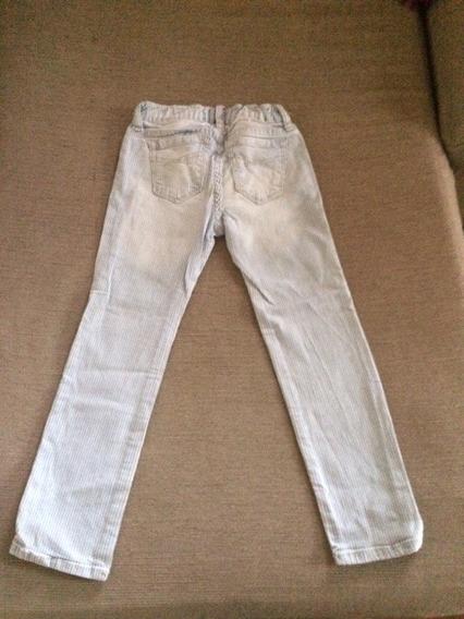 Gap Pantalon Jean Elastizado Nena Rallado Talle 5 Divino