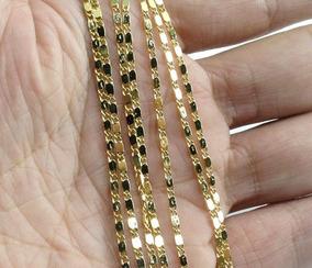 Corrente Folheada A Ouro 18k 2mm