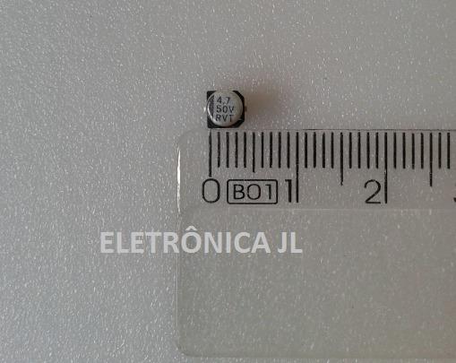 5 Capacitores Smd 4,7uf 50v (frete Incluso)