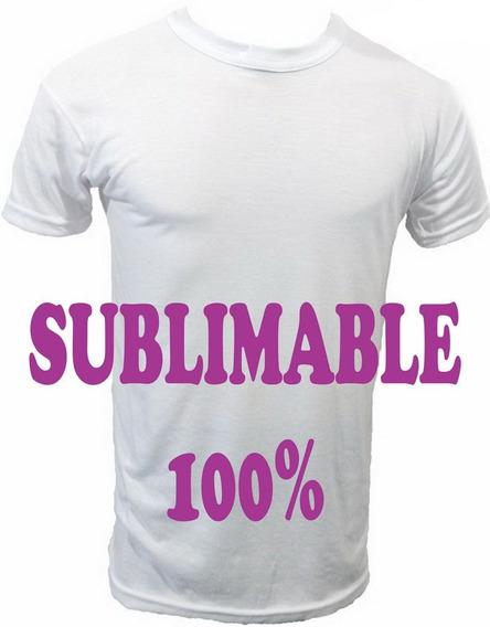 Remeras P/sublimar 30%algodon/70%poliester