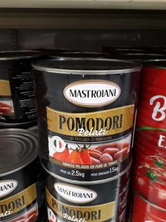 Kit 3 Lata Tomate Pelado Em Purê Mastroiani Pomodori Pelati