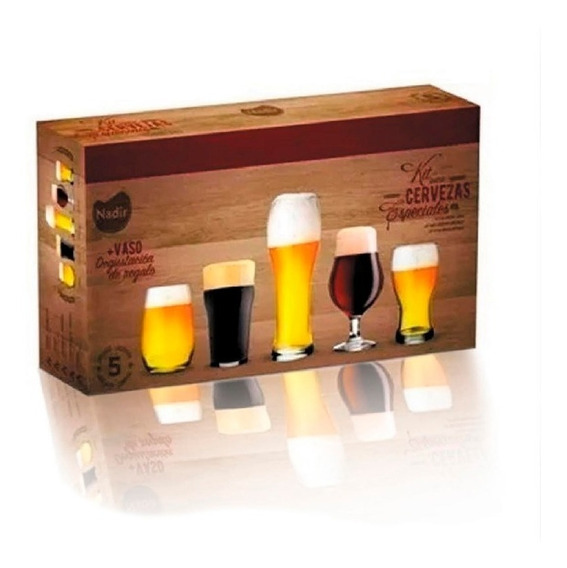 Kit Set Cervecero Especial Nadir 6 Vaso Ideal Regalo Cerveza