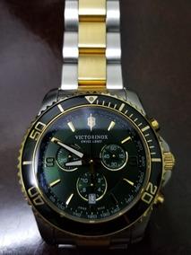 Relogio Victor Inox Swiss Army Maverick Verde Dourado Rolex