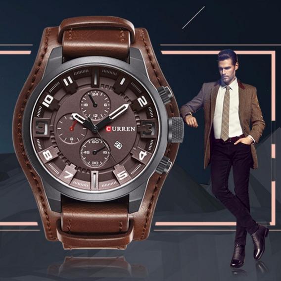 Relógio Masculino Curren 8225 Original Couro Frete Grátis