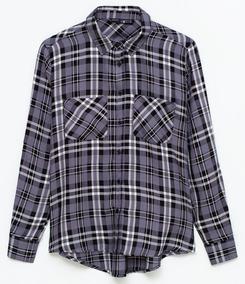 c4f12cfc9 Camisa Feminina Xadrez Em Viscose - Melhor Preço