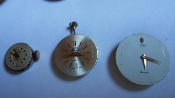 Lote De 3 Relógios Swiss Feminino Para Tirar Peças (56a)