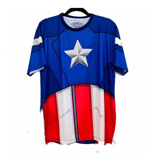 Camiseta Capitão América Os Vingadores 3d