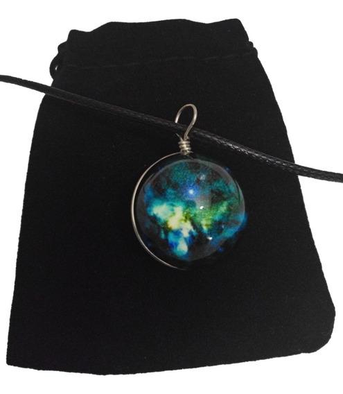 Collar Luminoso Espacio Galaxia Brilla En La Oscuridad