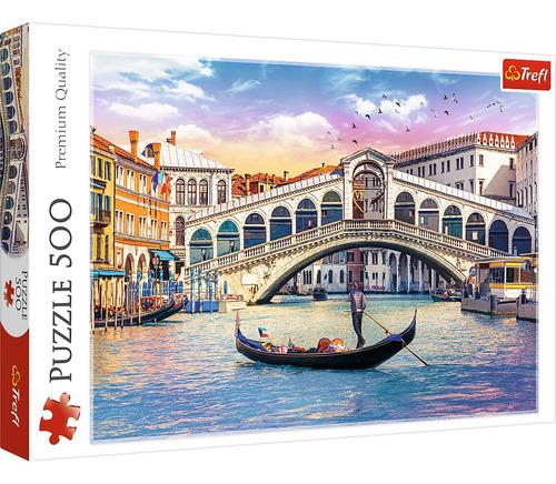 Rompecabezas Trefl 500 Piezas: Puente De Rialto, Venecia