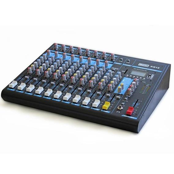 Mesa De Som Boxx Kg12 12 Canais Mixer 10 Canais