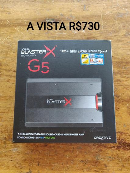 Placa De Som Dac Usb Sound Blasterx G5