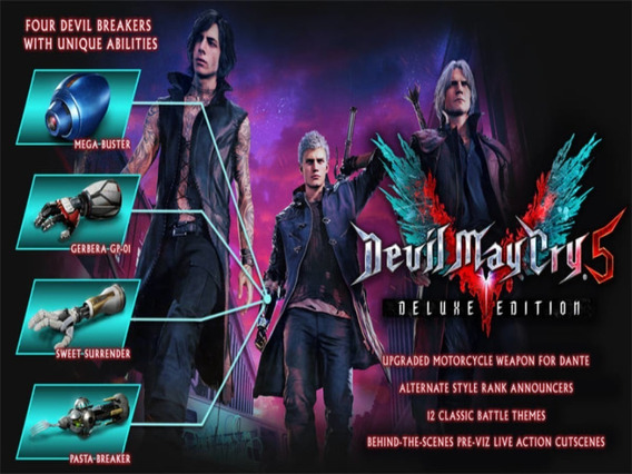 Devil May Cry 5 - Deluxe Edition - Pc - Steam Key Original