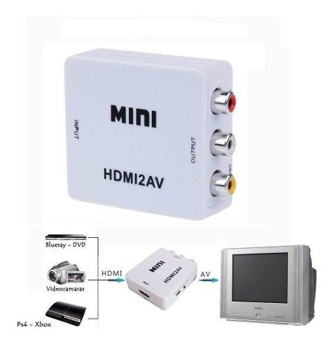 Mini Adaptador Conversor D Hdmi P/ Video 3rca Av Cabo Hdmi