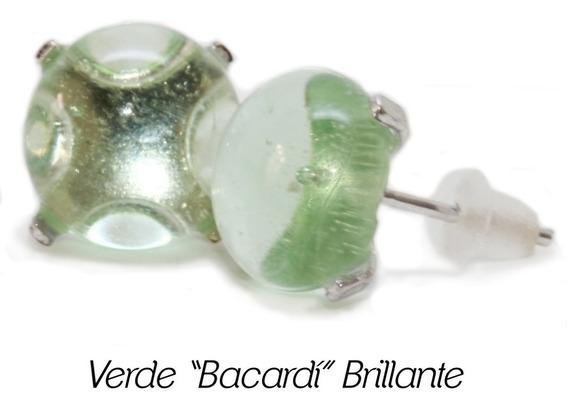 Broquel Arete De Vidrio De Botella Reciclada [cc]