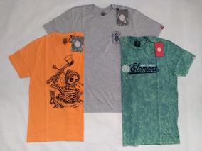 Camiseta Masculina Element Original Kit Com 2 Especial 105