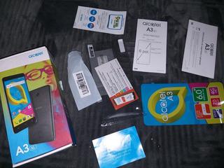 Caixa Original Celular Alcatel A3 Película De Proteger Tela