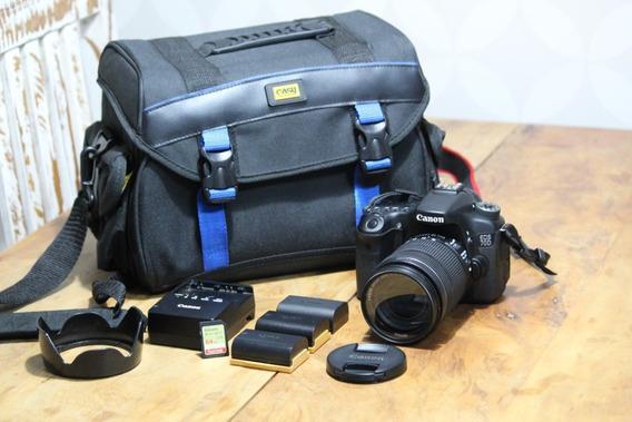 Câmera Canon 70d + Lente Canon Zoom 18-135mm - Novíssima