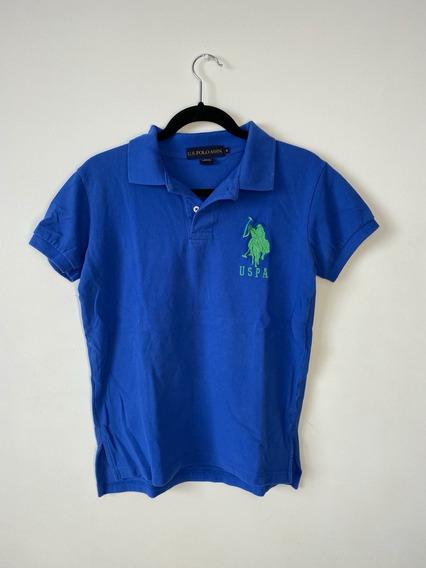 Us Polo Assn. Camisa Tipo Polo Original Azul Hombre Small