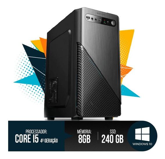 Desktop Pc I5 4ª Geração, 8gb Ram, Hd Ssd 240gb 12x S/ Juros