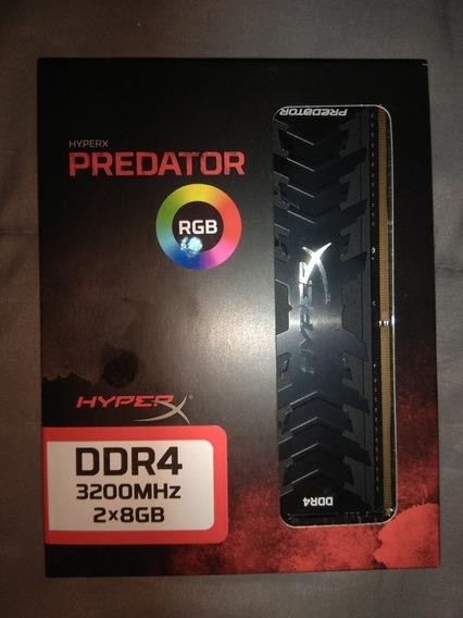 Memorias Kingston Hyperx Predator 16gb(2x8) Rgb Ddr4 3200mhz