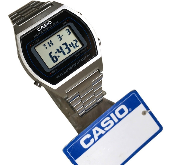 Relogio Casio Digital B640 Prata Unisex Original C/ Caixa Nf