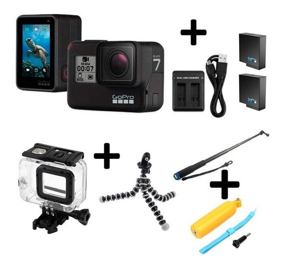 Gopro Hero7 Black 4k 60fps + Super Kit De Acessórios