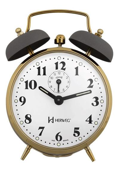 Despertador Antigo Corda Antigo Alarme Forte Herweg 2215