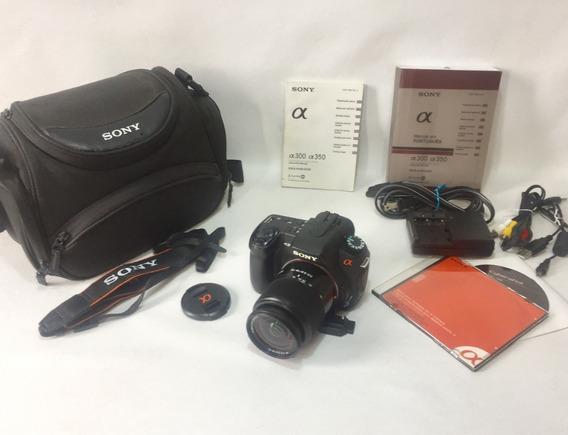 Câmera Digital Reflex Sony Dslr A350 Completa C/ Lente 18-70