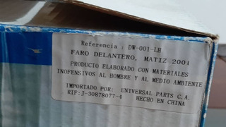 Faro Delantero Izquierdo Matiz 2001 Adelante Dw-001-lh