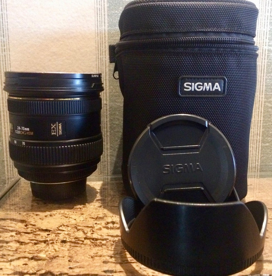 Lente Sigma 24-70mm F/2.8 Nikon Ex Dg Hsm Full Frame