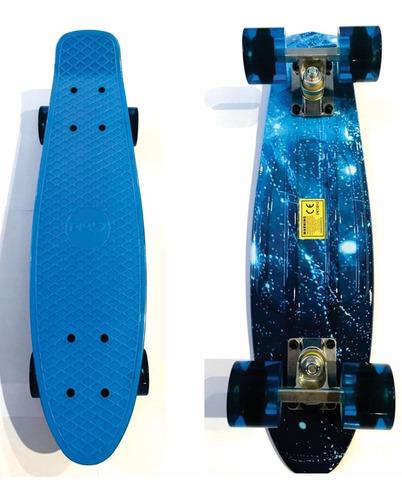Skate Patineta Mini Longboard Aluminio Estampado