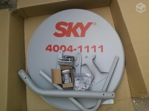 6 Antenas Ku 60cm - Claro/sky + 6 Lnbs Duplos + 100mts Cabo