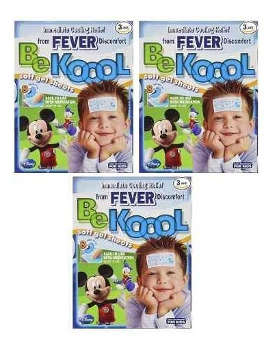 3x Be Koool Soft Gel - Alívio Febre / Vacina - Original